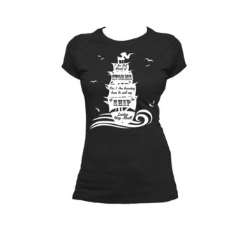 Learning to Sail My Own Ship Ladies or Mens T Shirt, Louisa May Alcott,Nerd Girl Tees