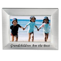 Lawrence Frames Sentiments Collection, Brushed Metal 4 by 6 Grandchildren Picture Frame