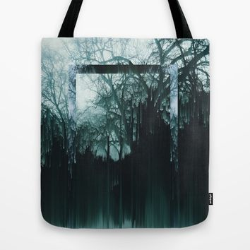 Tree Lines Tote Bag by Ducky B