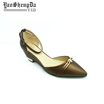 Ladies Party Wear Chunky Heel Wedge Shoes