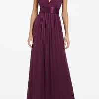 BCBGMAXAZRIA - DRESSES: VIEW ALL: TOREY V-NECK LONG DRESS
