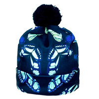 Glowing Butterfly Beanie