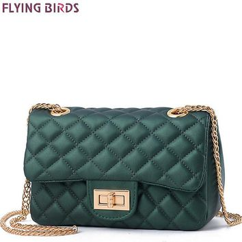 FLYING BIRDS 2017 Womens Messenger Leather Quilted Chain Handbags Tote Clutch