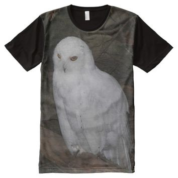 Snowy Owl Photo All-Over Print T-shirt