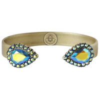 Loren Hope: Small Sarra Cuff in Jet Iridescent