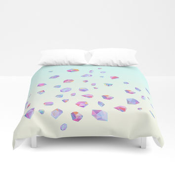 Shine bright Duvet Cover by printapix