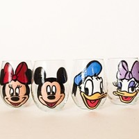 Disney Gang Wine Glass Set - 4 glasses