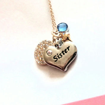 Sister necklace, sister jewelry, sister gift, gift for sister, sisters, 21st, gift, for, birthday, eternity gift, necklace, Christmas gift,