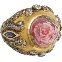 Sevan Bicakci Diamond & Rock Quartz Rose Ring at Barneys.com