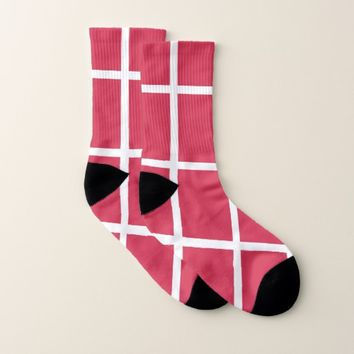 All Over Print Socks with Flag of Denmark