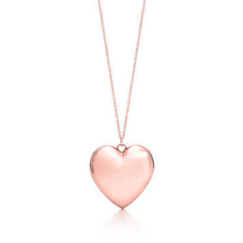 Tiffany & Co. - Tiffany Hearts® pendant in RUBEDO® metal, large.