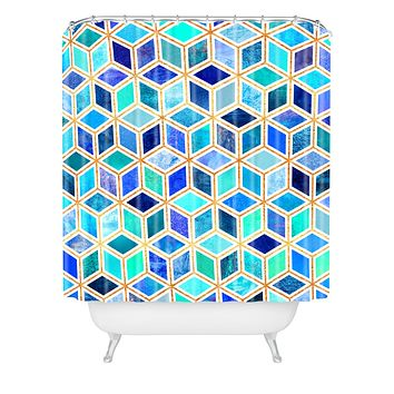 Elisabeth Fredriksson Magic Blue Shower Curtain