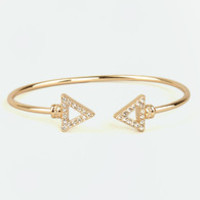 Arrows by Any Other Name Gold Bracelet