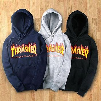 Womens Thrasher Hoodies Sweatshirt F