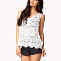 Floral Lace Bow Top | FOREVER 21 - 2024149360