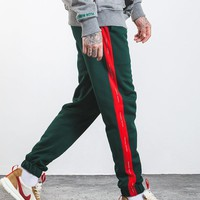 """""""Forbidden Colors"""" Striped Joggers"""