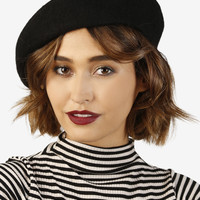 Perf Wool Beret - Black