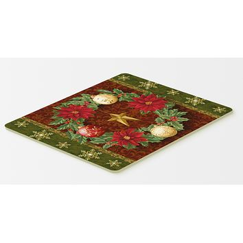 Holly Wreath with Christmas Ornaments Kitchen or Bath Mat 20x30 PTW2007CMT