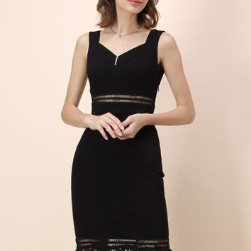 Beyond Perfect Bodycon Dress in Black