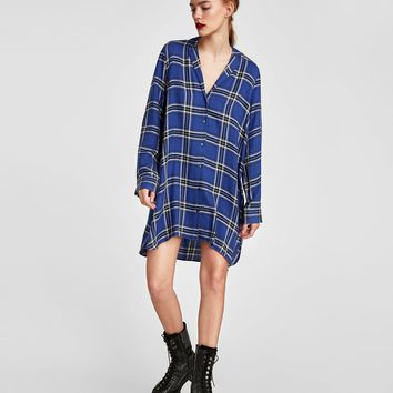 CHECKED SHIRT TUNIC