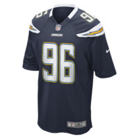 Nike NFL San Diego Chargers (Jarret Johnson) Men's Football Home Game Jersey