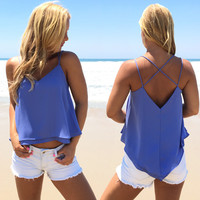 Take Two Blouse In Periwinkle Blue