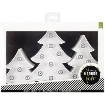 American Crafts Heidi Swapp Marquee Love Collection Christmas Marquee Kit Plastic Trees