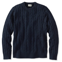 Double L Cotton Sweater, Cable Crewneck | Free Shipping at L.L.Bean.