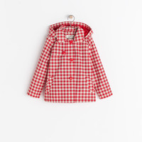 CHECKED RAINCOAT