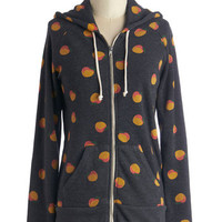 ModCloth Fruits Mid-length Long Sleeve Hoodie Smile After Mile Hoodie