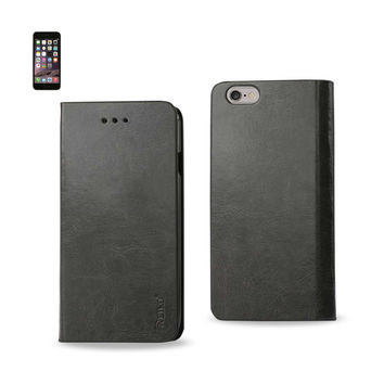 REIKO IPHONE 6 PLUS FLIP FOLIO CASE WITH CARD HOLDER IN GRAY