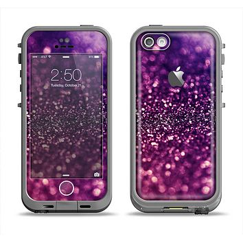 The Unfocused Purple & Pink Glimmer Apple iPhone 5c LifeProof Fre Case Skin Set
