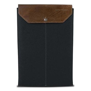 Graf & Lantz Felt Sleeve Case with Leather Flap for 11 MacBook Air - Black