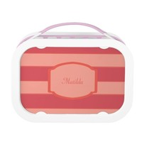 simple pink lines(can change name) lunch box