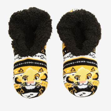 Licensed cool Disney The Lion King Simba Geometric Cozy Fluffy Slippers Socks Anti Slip Soles