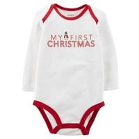 Carter's ''My First Christmas'' Bodysuit - Baby Neutral, Size: