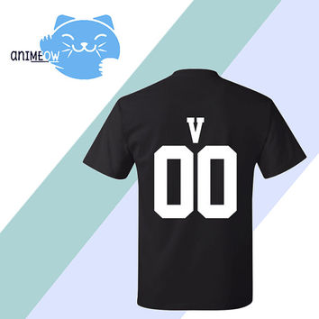 V Mystic Messenger Inspired Game Jersey Style T-Shirt