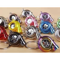 Spinning Turbocharger Keychain w/ Light JDM