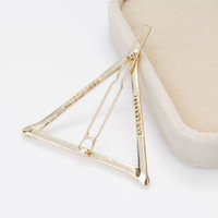 women's s gold silver plated metal triangle hair clip jewelry for women accessories pinzas de pelo SM6