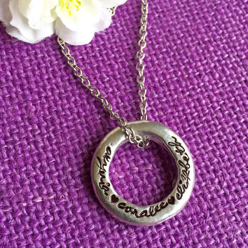 Mom Necklace - Mother's Day Gift  - Personalized - Name Jewelry - Pewter - Family circle - Family love - Necklace for Mom - Names gift