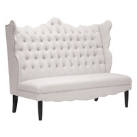 Design Studios Witherby Banquette Bench - Cream/Tan
