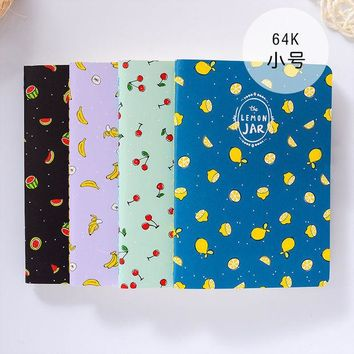 DCCKL72 1Pc Kawaii Wood-in Fruit Jar Kraft Paper BLANK Notebook Journal Diary Notepad Vintage Soft Copybook Memos Pads Cute Stationery