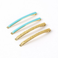 ban.do | yellow glitter and turquoise hair pins