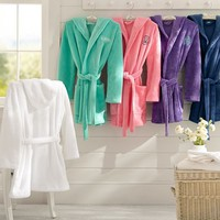 SHORT HOODED ROBE,MINT