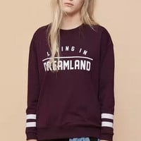 Burgundy Knitted Sweatshirt