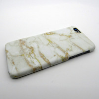 Gold White Marble Stone iPhone 5se 5s 6 6s Plus Case Cover  + Nice Gift Box 267
