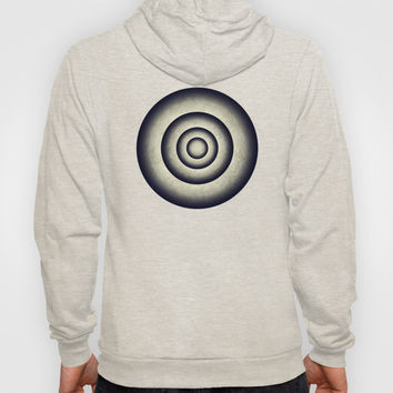Abstract grunge gray blue 3D metal rings tunnel Hoody by Natalia Bykova