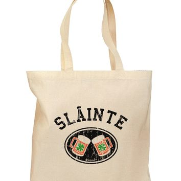 Slainte - St. Patrick's Day Irish Cheers Grocery Tote Bag by TooLoud