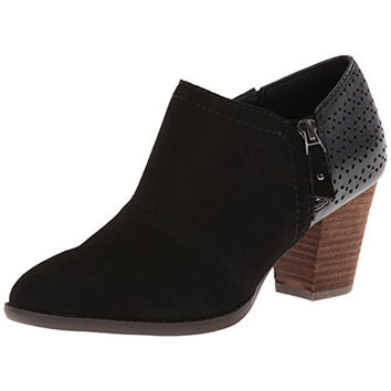 Dr. Scholl's Womens Donovan Suede Stacked Booties