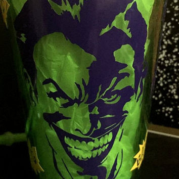 Custom Comic The Joker Suicide Squad Ha Ha Ha Bang Cup